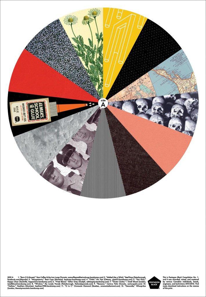 How Pentagon Black's new paper compilation unites DIY bands across Canada