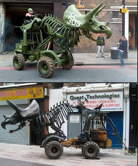 Handmade Metal Stegosaurus Statue