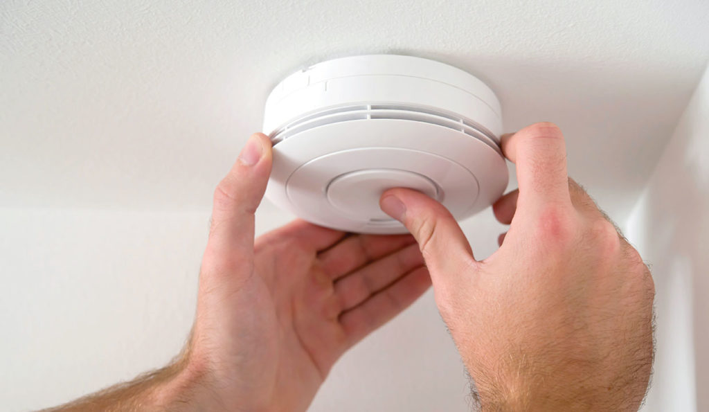 Check the smoke alarms and carbon monoxide detectors