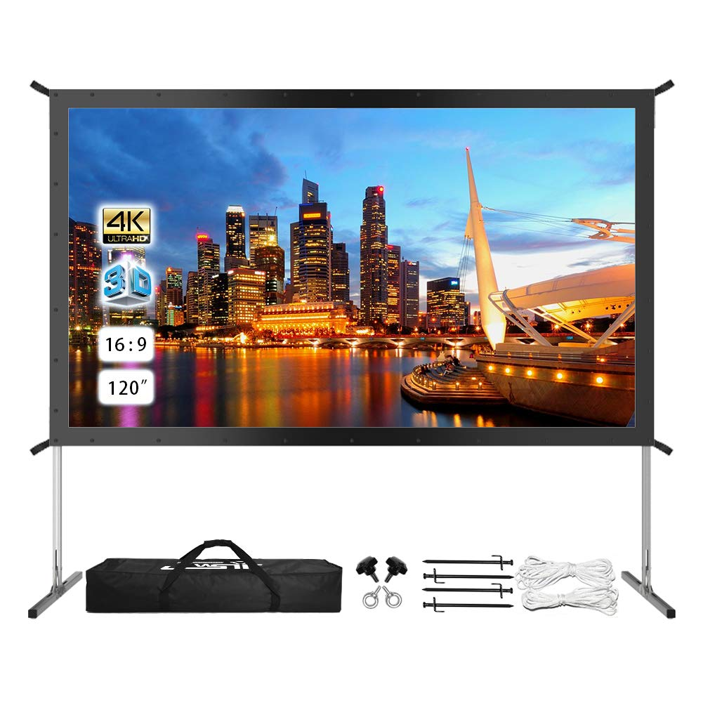 7 Best Outdoor Projector Screens In 2019 - Chart Attack