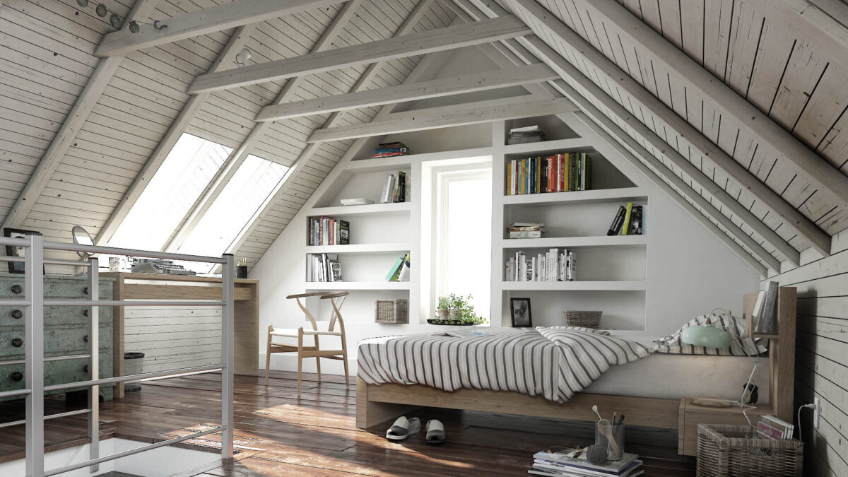 How To Turn Your Attic Into Cozy Living Space Chart Attack